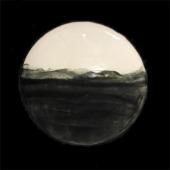 black and white landscape platter